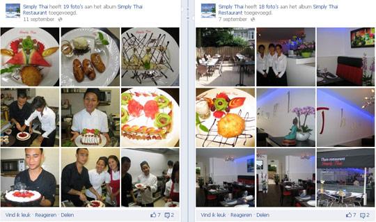 Simply Thai op Facebook